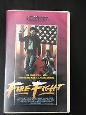 Fire Fight Ex-Rental Vintage Big Box VHS Tape English dutch subs