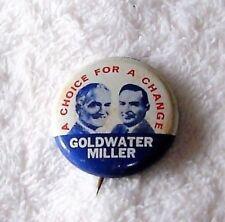Vintage Reproduction Goldwater Miller Pinback Campaign Button