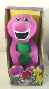 Talking Barney in box TESTED WORKS-Playskool interactive Large Plush dinosaur