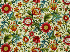 FLORAL  FLOWERS  QUILTING QUILTERS  POETICA  100% COTTON FABRIC MATERIAL YARDAGE