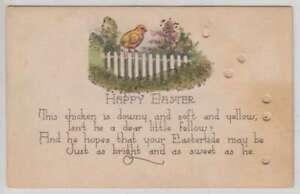 C1358 : 1910's Happy Pâques Hold-To-Light Carte Postale