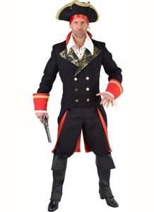 Pirat Seeräuber Piraten Mantel Kostüm Jacke Admiral Napoleon Offizier General