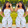 Womens Plus Size Rompers Bandeau Jumpsuit Clubwear Playsuit Butterfly Dresses