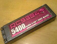 TAMIYA XRAY TRAXXAS Team associated losi 5400mah 7.4V 60C Hard Case Lipo Battery