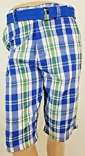NEW Active Force Blue Green Plaid Men's Shorts Size 30