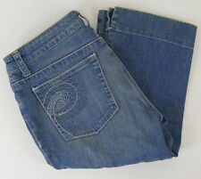 Pure Color Womens Cropped Jeans Size 30 Medium Blue Preowned