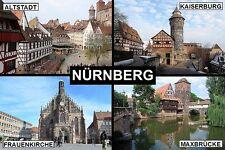 SOUVENIR FRIDGE MAGNET of NÜRNBERG NUREMBERG GERMANY