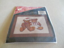 "CHRISTMAS TEDDY BEARS BANAR DESIGNS COUNTED CROSS STITCH Kit 5"" X 7"" NEW!"