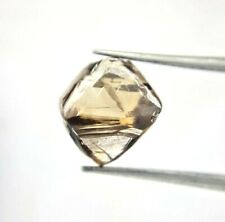 Big Uncut Raw Diamond 4.06TCW Brown Sparkling Natural Octahedron Shape for Gift