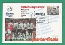 FOOTBALL  -   STAMP  COVER  ENVELOPE  FOR  EURO  96  -  MATCH  NO.  27 -  1996