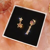 Earrings Drop Rhinestone Pendant Long Dangle Star Crystal Korean Style Woman