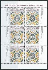 Portugal - Azulejos (V) Kleinbogen postfrisch 1982 Mi. 1557