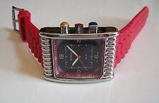 Red/Silver Finish  Fashion Designer  Hip Hop Look Men's Watch