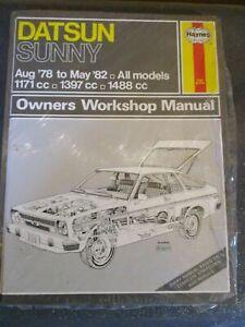 525 Haynes Manual Datsun Sunny 1171cc 1397cc 1488cc Aug 1978- May 1982