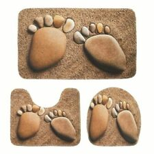 Non-Slip Bathroom Absorbent Carpet Bath Rugs Toilet Seat Cover Floor Pebble Pads