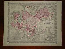 Vintage 1864 GERMANY MAP ~ Old Antique Original Atlas Map 82818