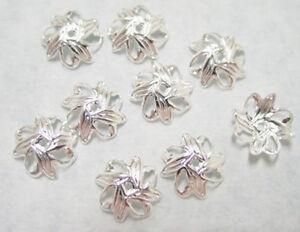 100 Leaf Design Silver Filigree Beadcaps Bead Cap