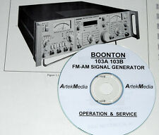 BOONTON 103A 103B INSTRUCTION MANUAL (OPERATING & SERVICE)