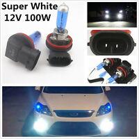 H11 12V 100W Xenon White 6000k Halogen Blue Car Headlight Lamp Globes Bulbs HID