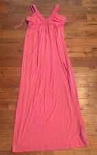 NEW Women's Pink DESIGN HISTORY Braided Long Maxi Swim Cover Dress Size Small S