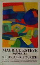 Affiche MAURICE ESTEVE 1973 Exposition Neue Galerie - Zurich - MOURLOT