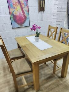 Oak Extending Dining Table and 4 Chairs, Good Condition,Free Delivery 🚚