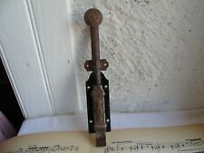 French antique  iron  door lock slide bolt solid authentic hardware
