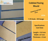 Cobbled Paving sections Mould - DT53 - OO Gauge Model Railway Scenery