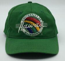Vintage University Hawaii Rainbows Snapback Hat The Game Stitch Tag Circle Logo