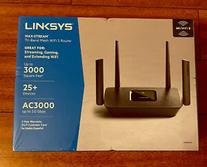 Linksys MR9000-NP Max-Stream Tri-Band AC3000 WiFi 5 Router 3.0 Gbps New Sealed