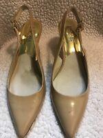 MICHAEL KORS Womens Pumps Heels Nude Patent Leather Shoes Size US 8 M