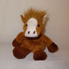 "Horse Brown Tan Plush Stuffed Animal 5"" KellyToy Beanpals Farm"