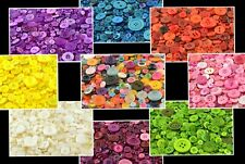 Colourful Buttons, Plastic Craft Buttons, Round, Mixed Sizes, Shapes, Sewing