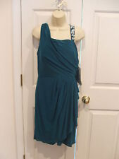 NWT $ 129 SCARLETT TEAL RUCHED BEADED  COCKTAIL PARTY DRESS SIZE 16