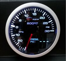 60mm Depo  2 in 1 Turbo Boost & Oil Pressure Gauge WA60126B white amber red