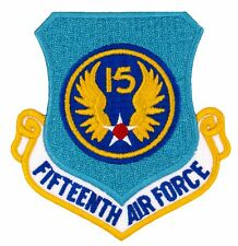 "US Air Force - 15th Air Force Shield Patch (737) 3"" x 3"" Embroidered Patch 33237"