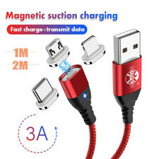 1M 2M Magnetic Cable Micro USB Type C Quick Charge Charger USB  Wire For iPhone