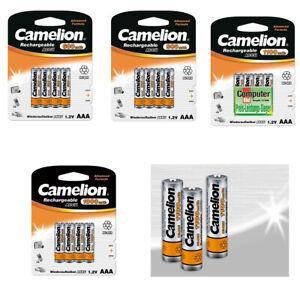 Camelion AAA Micro Batterie Pile HR03 600mAh - 1100mAh Nimh Ricaricabile