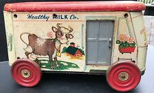 Rare 1940's-50's Gong Bell Toy Co. 123 Healthy Milk Co, Delivery Truck