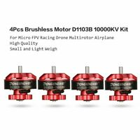 4Pcs CW CCW Brushless Motor D1103B 10000KV for RC Racing Micro FPV Drone Gp