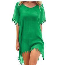 Women s Beachwear Swimwear Bikini Beach Wear Cover Up Tassel Ladies Summer Dress
