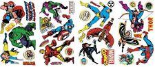 CLASSIC MARVEL 32 Wall Decals Iron Man Thor Hulk Room Decor Stickers Spiderman