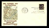 Canada 1957 Mining Congress FDC / H&E Thermo Cachet - L12390