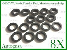 OVAL VW SKODA FORD MAZDA PORSCHE CAR MAT CLIPS FLOOR HOLDERS FIXING CLAMPS 8X8