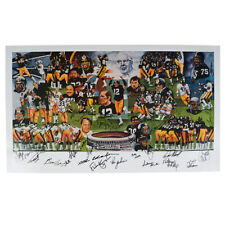 Pittsburgh Steelers Team of the Decade 70's Autographed Lithograph - JSA COA