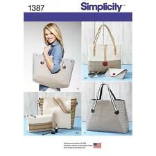 SIMPLICITY SEWING PATTERN BAGS IN ASSORTED SIZES 1387