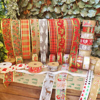 Christmas Hessian Jute Linen Wired Ribbon Wedding Cake Trim Crafts 40/60mm 1M