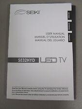 SEIKI SE32HYD LED TV USER MANUAL NEW