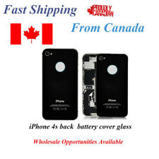 iPhone 4S 4GS Back Battery Glass Cover Black