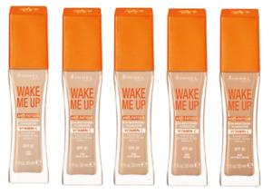 RIMMEL Wake Me Up Anti-Fatigue Foundation SPF 15/20 SEALED - various shades 30ml